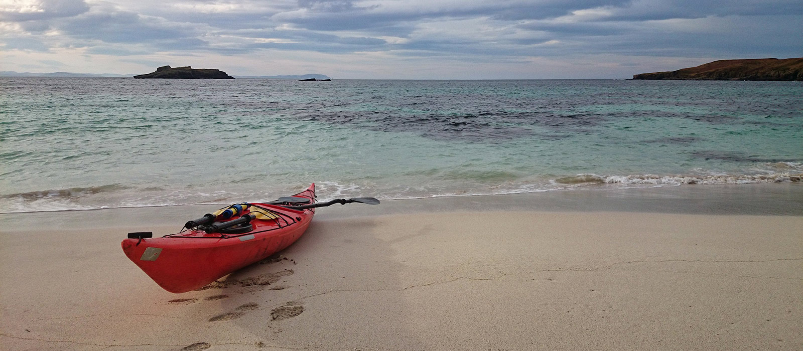 Kayak on beach. Photo: Tim Hamlet